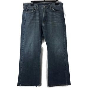 Lucky Brand relaxed bootleg jeans distressed 36